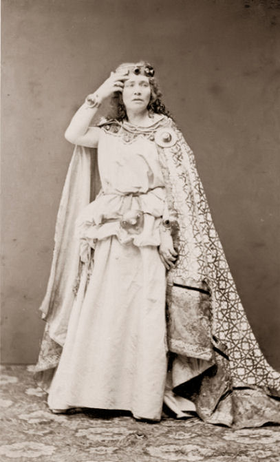 Malvina Garrigues Schnorr von Carolsfeld in the Wagnerian role of Isolde