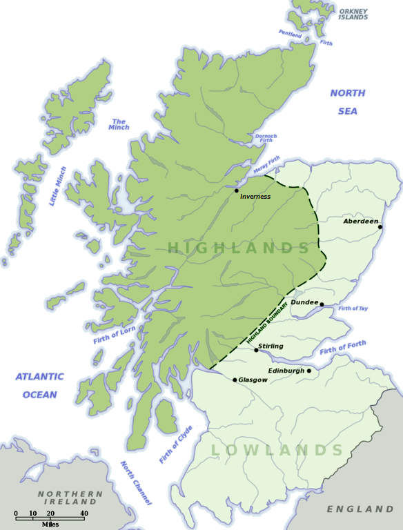 Map Of Scottish Highlands Scottish Highlands   Wikipedia