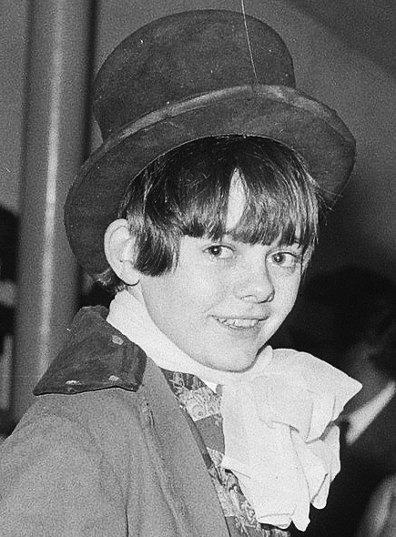 Wild dressed up as his character from ''[[Oliver! (film)|Oliver!]]'' in 1968