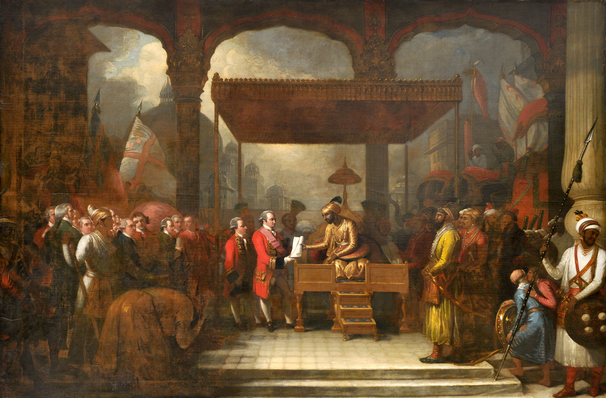 File Shah Alam Ii Mughal Emperor Conveying The Grant Of