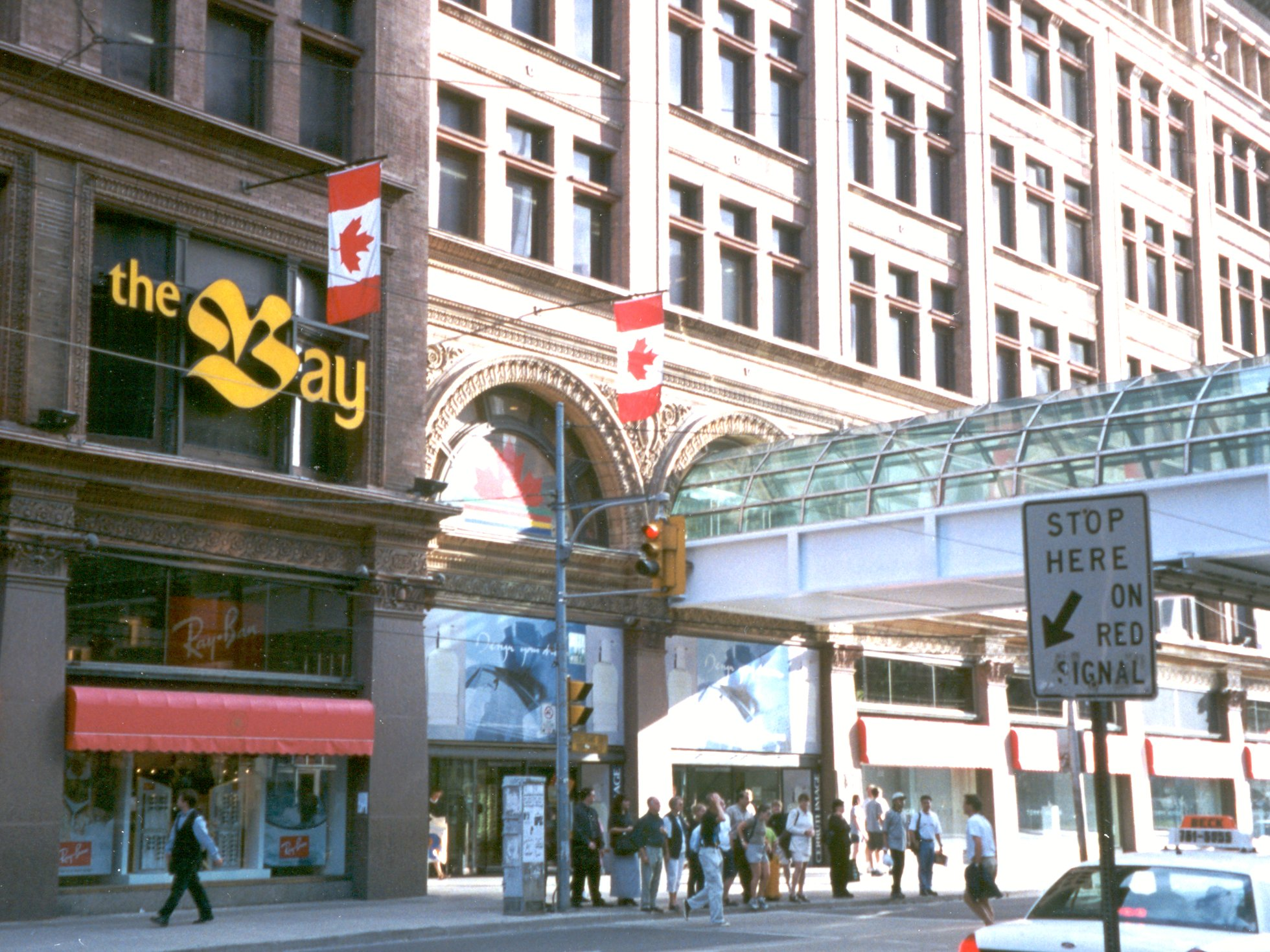 For daily needs, the corner store supplied the needs of Toronto's residents. The Bay at Queen and Yonge Streets formerly the Robert Simpson Company (Simpson's) Robert Simpson was born in Inverness, Scotland in