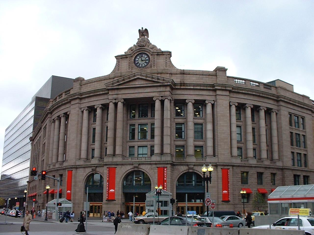 Frontansicht der South Station