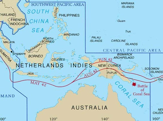 South West Pacific Theatre Of World War II Wikipedia - West pacific islands map 1998