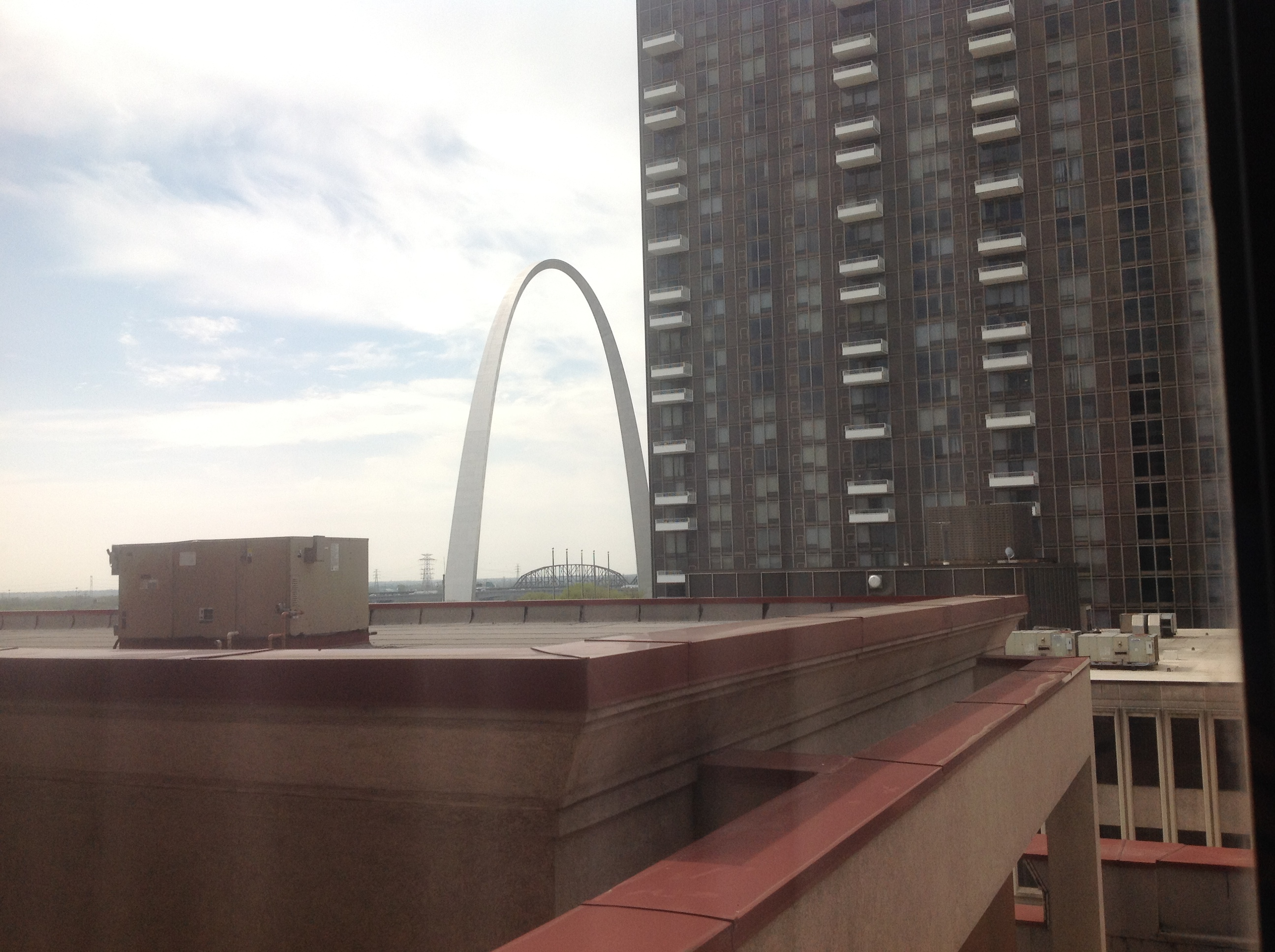 File St Louis Arch From A Hotel Window 4th Street Jpg