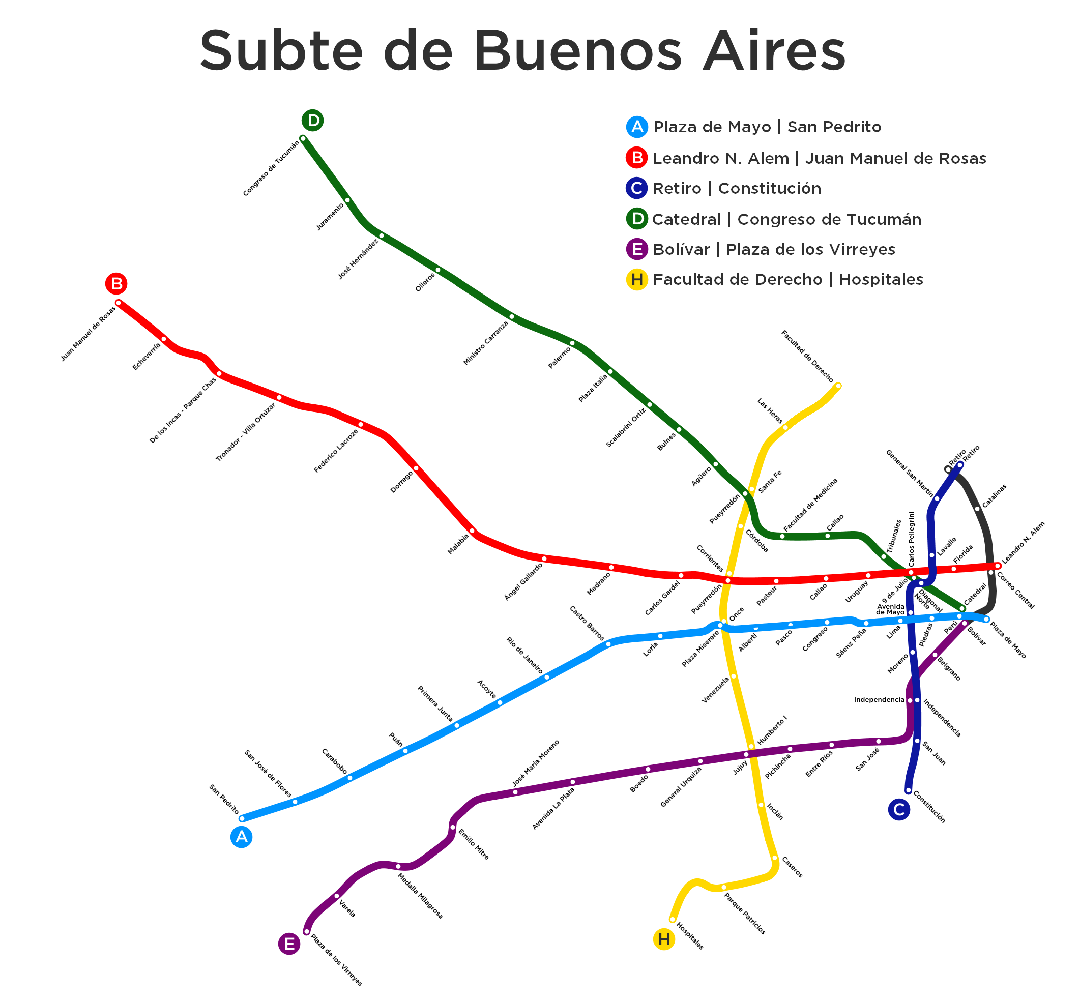 Subway Map Of Buesnos Aries Olleros Station.List Of Buenos Aires Underground Stations Wikipedia
