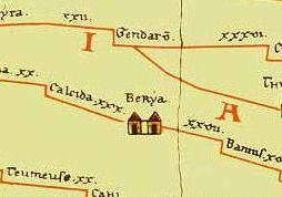Beroea as it is shown in Tabula Peutingeriana TabulaPeutingeriana-berya.jpg