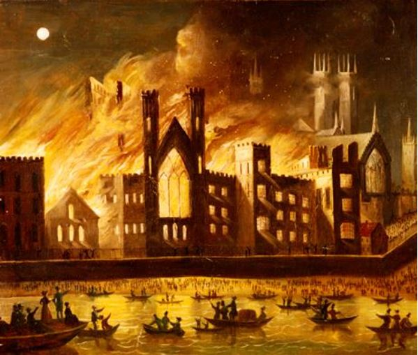 File:The Palace of Westminster on Fire, 1834.JPG
