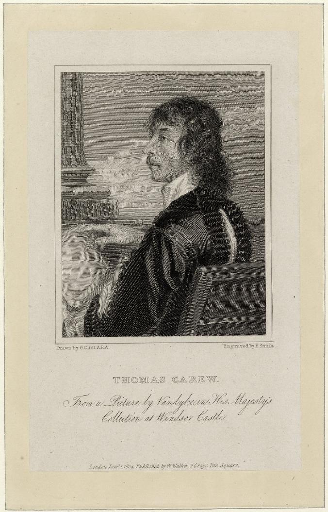 thomas carew Born in 1632 and died in 1673 haccombe, devon thomas carew.