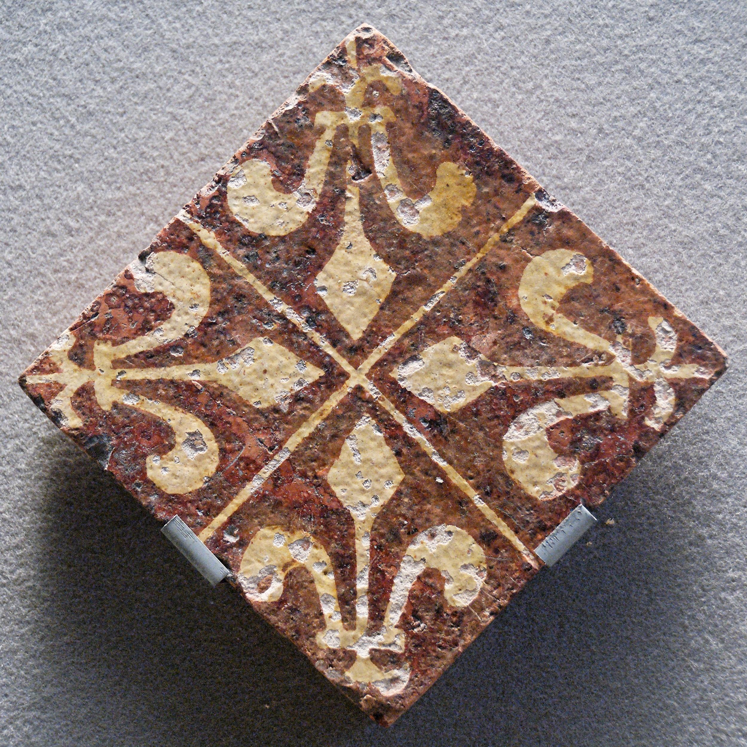 File Tile Fleur De Lis Louvre Ao10218