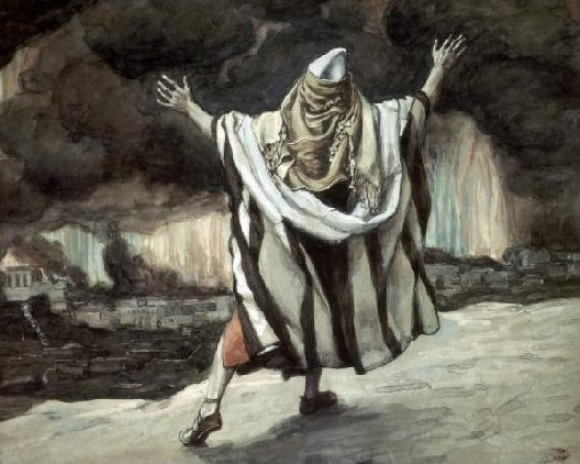 Tissot Abraham Sees Sodom in Flames