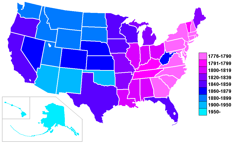 FileUS States By Date Of Statehood GradientPNG Wikimedia Commons - Us states in order