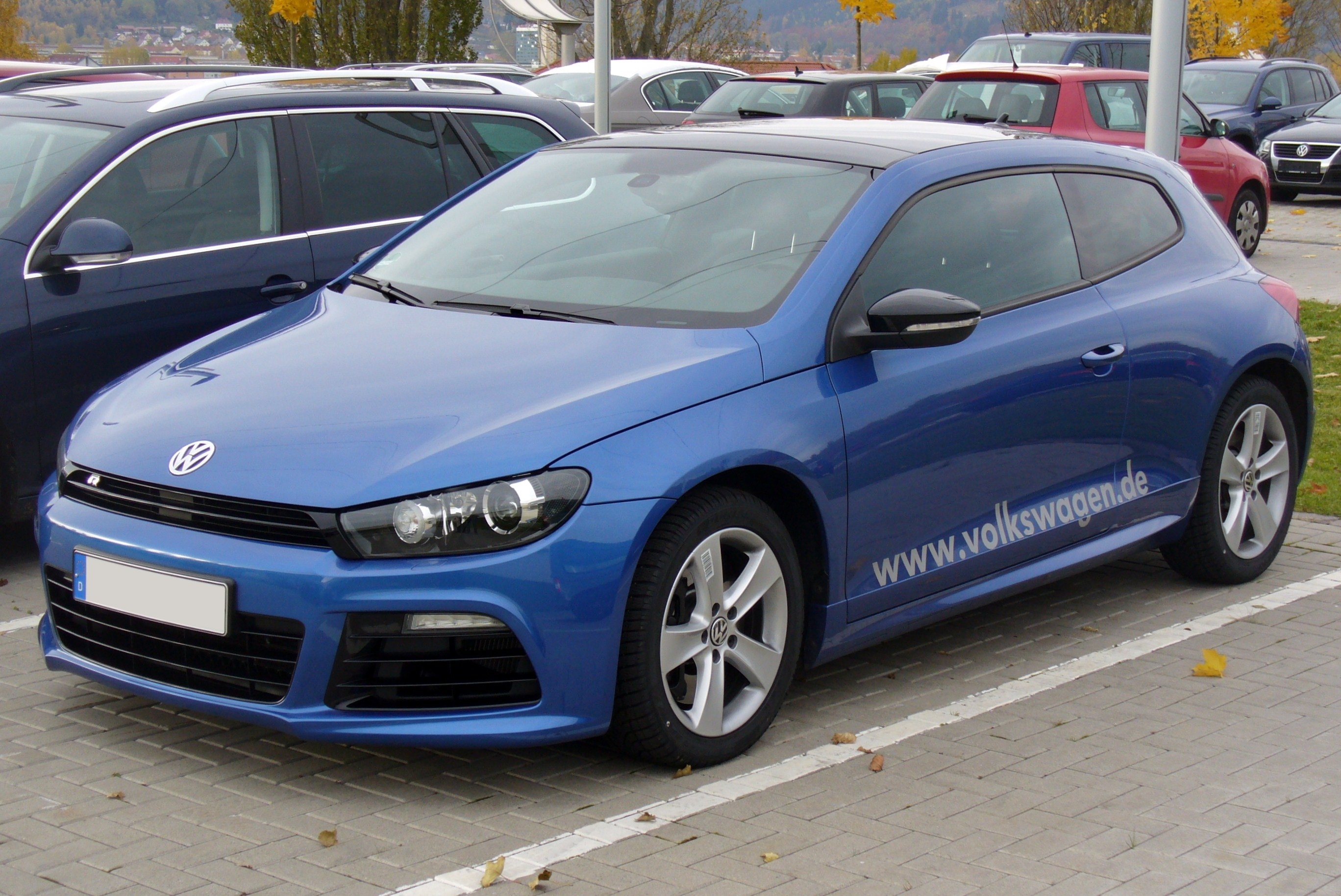 File Vw Scirocco Iii R Risingblue Jpg Wikimedia Commons