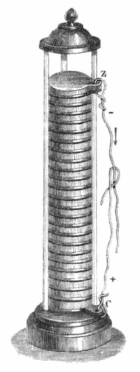 Then::Voltaic Pile 1805