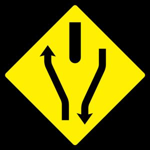 filew094 road divides warning sign irelandpng