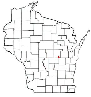 Location of Fremont, Waupaca County, Wisconsin