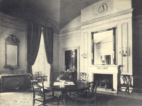 The Family Dining Room During Administration Of Theodore Roosevelt White House