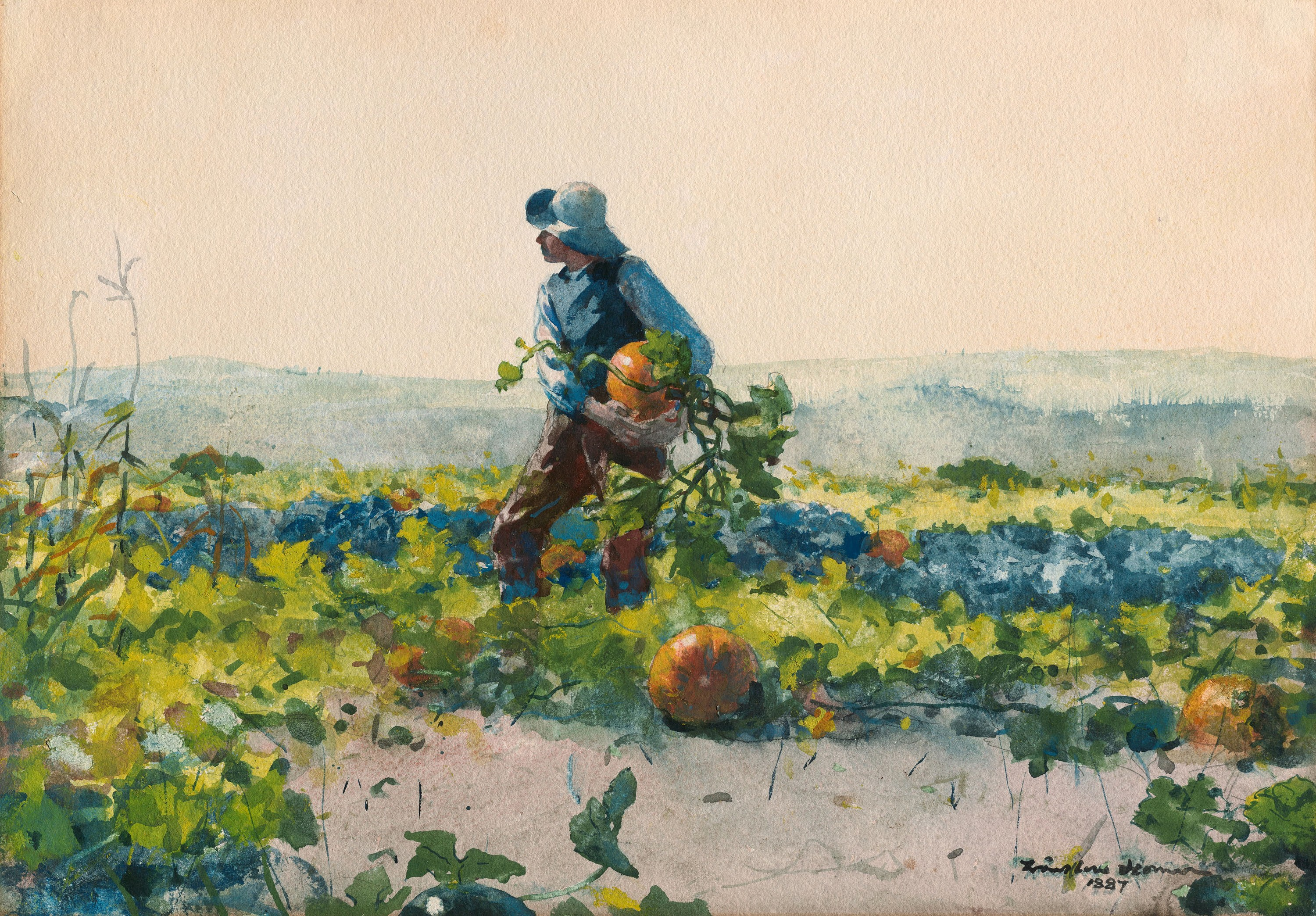 File:Winslow Homer - For to Be a Farmer's Boy.jpg - Wikimedia Commons