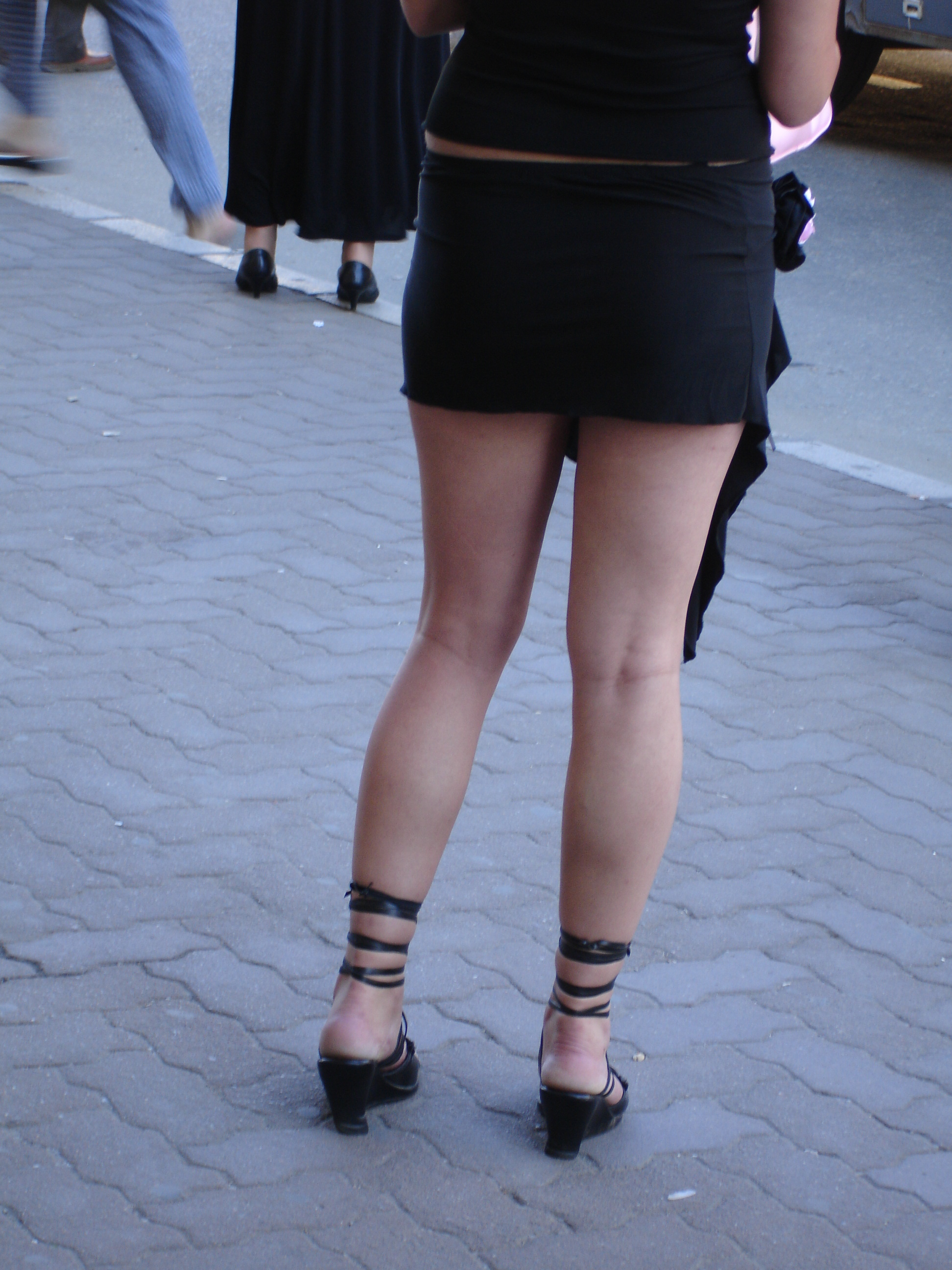 fileyoung woman in a miniskirt no one notices but me