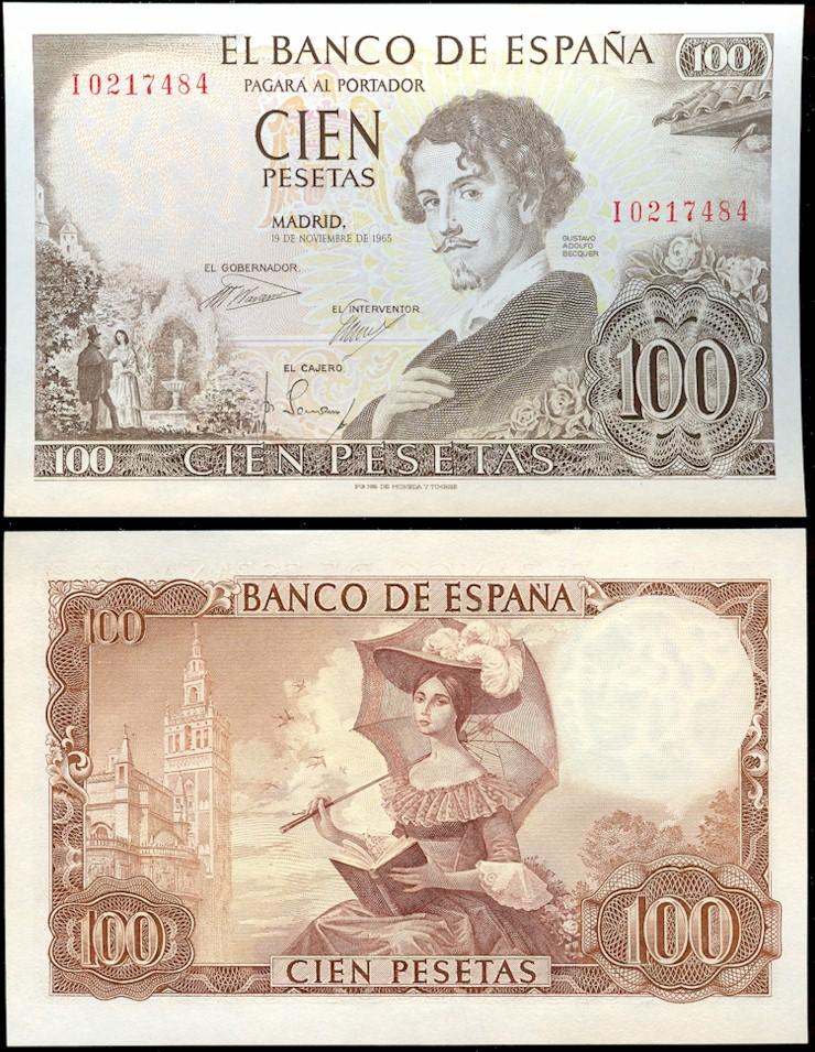 File 100 Pesetas Of Spain 1965 Jpg