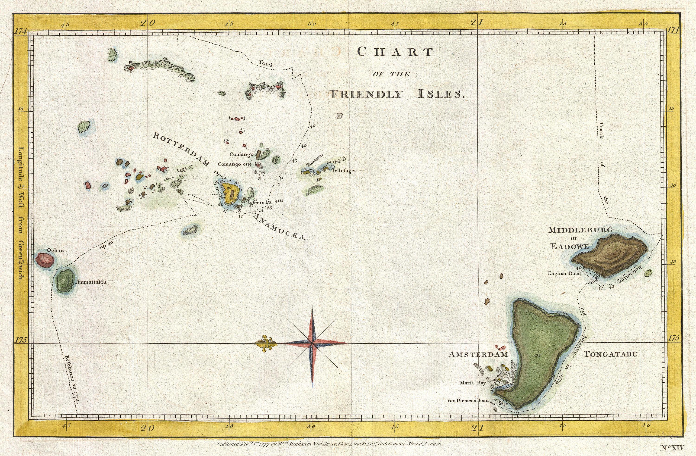 Tonga alte Karte