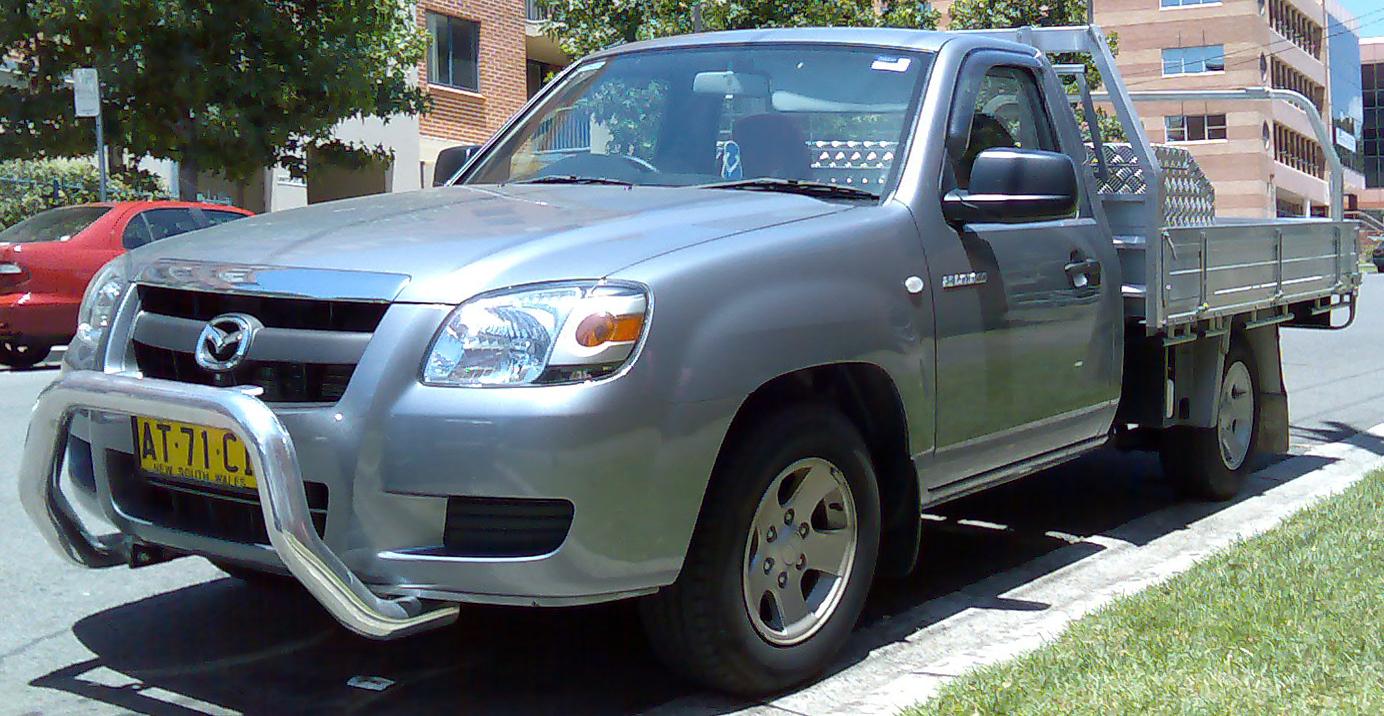 File:2006-2008 Mazda BT-50 (B2500) DX 2-door cab chassis 01.jpg ...