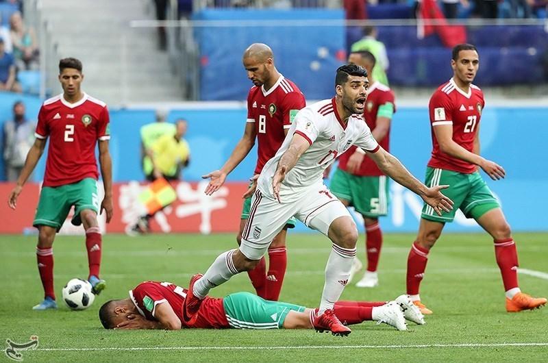Iran mot Marokko, fotball-VM 2018. (Wikimedia Commons)