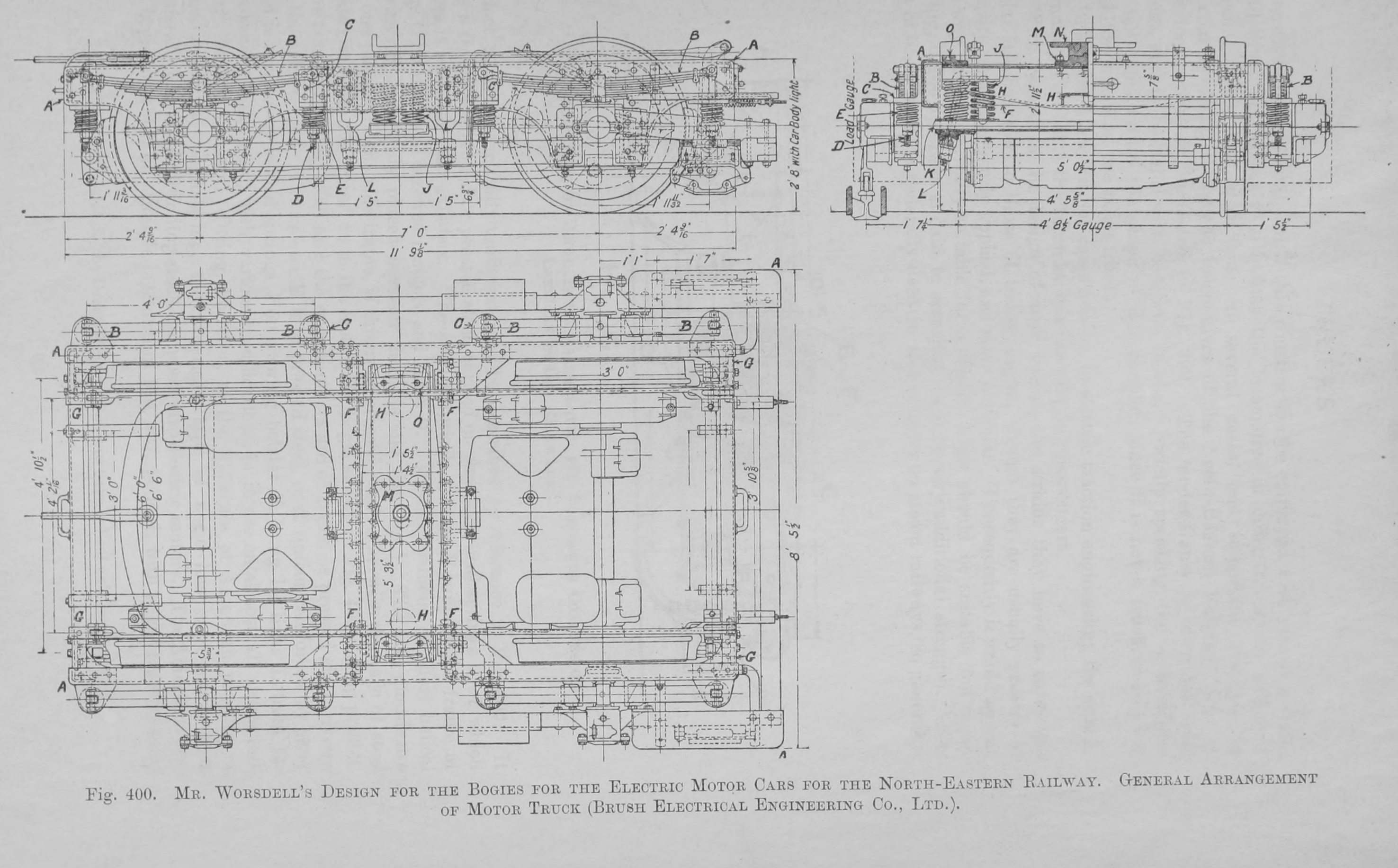 File400 Mr Worsdells Design For The Bogies Electric Electrical Engineering Plan Motor Cars