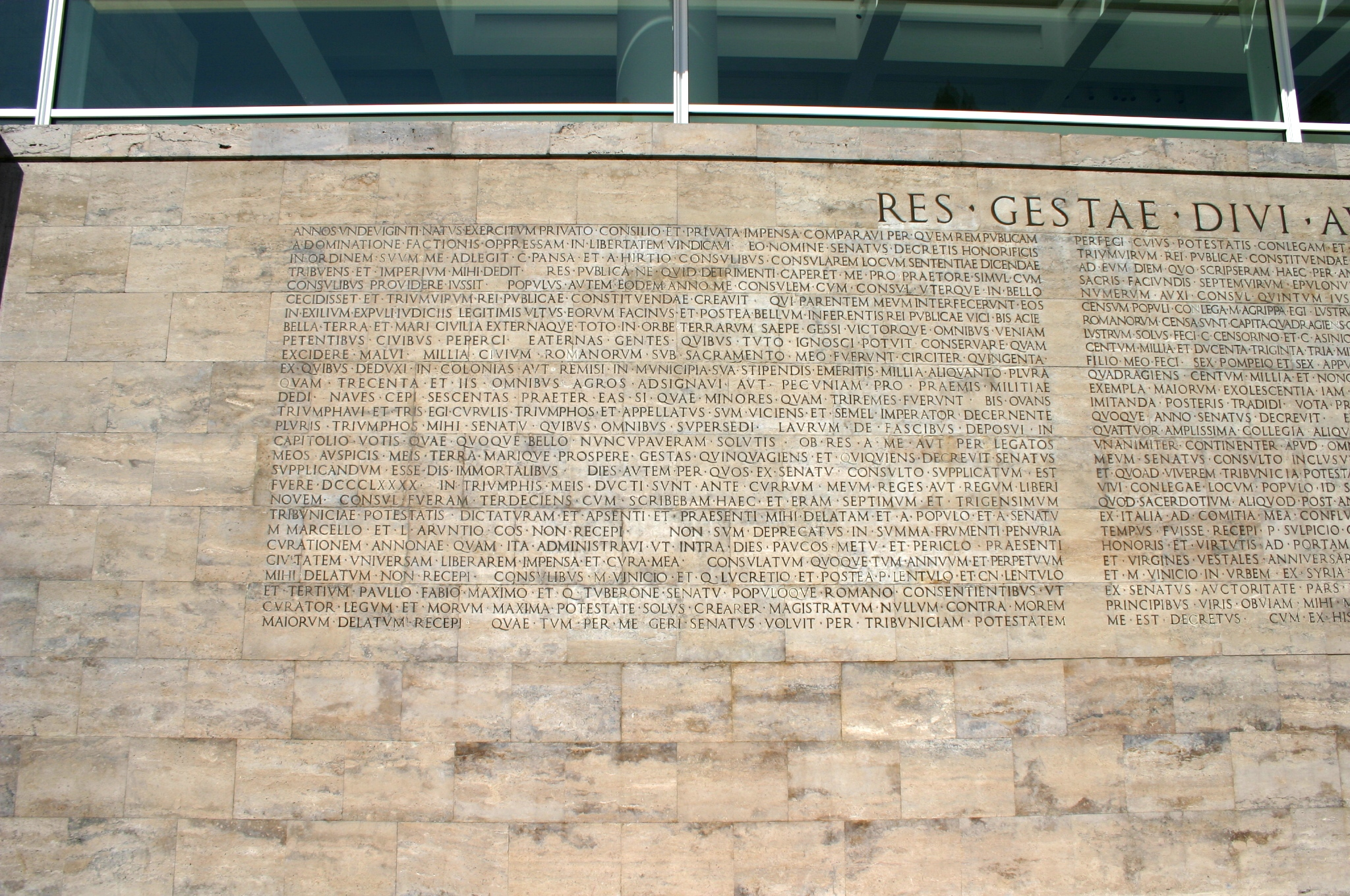 File 8162 roma testo monumentum ancyranum presso ara pacis foto giovanni dall 39 orto 29 mar - Res gestae divi augusti pdf ...
