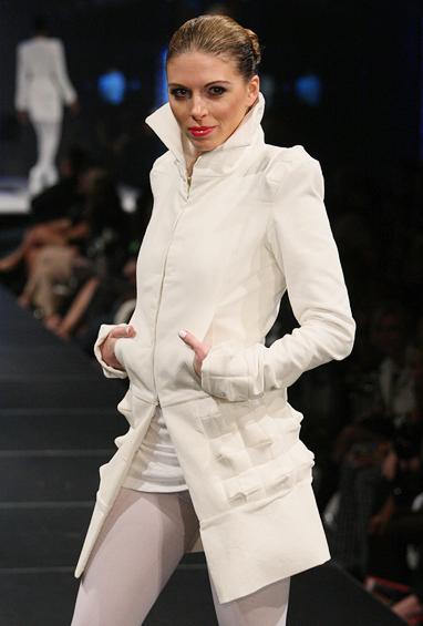 woman in runway show