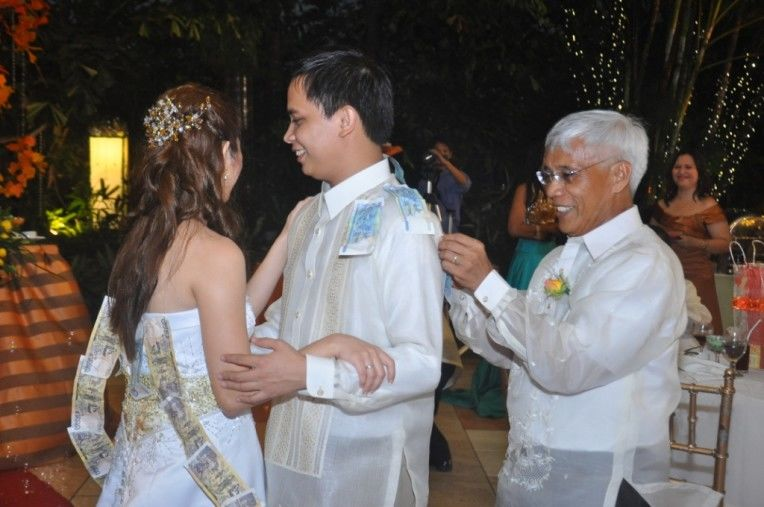Money Dance Wedding.File A Traditional Money Dance Of Newly Weds Filipino Couple