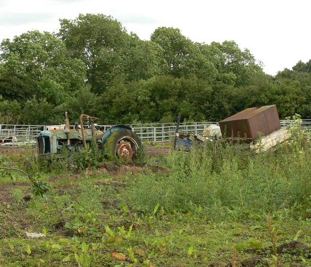 File:Abandoned farm machinery - geograph.org.uk - 481488.jpg
