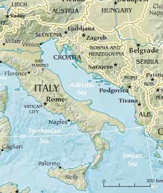 Marginal seas of the Mediterranean