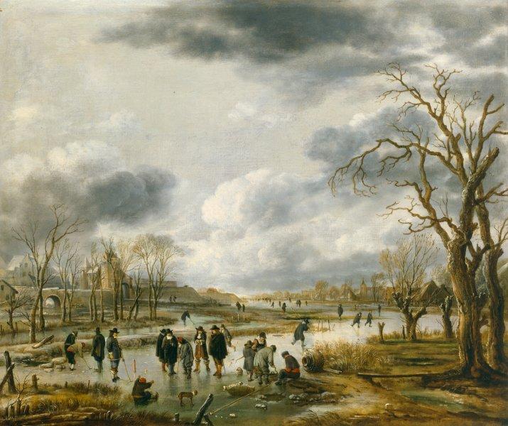 aert van der neer - ijsvermaak buiten de stadswal (ca. 1655).jpg