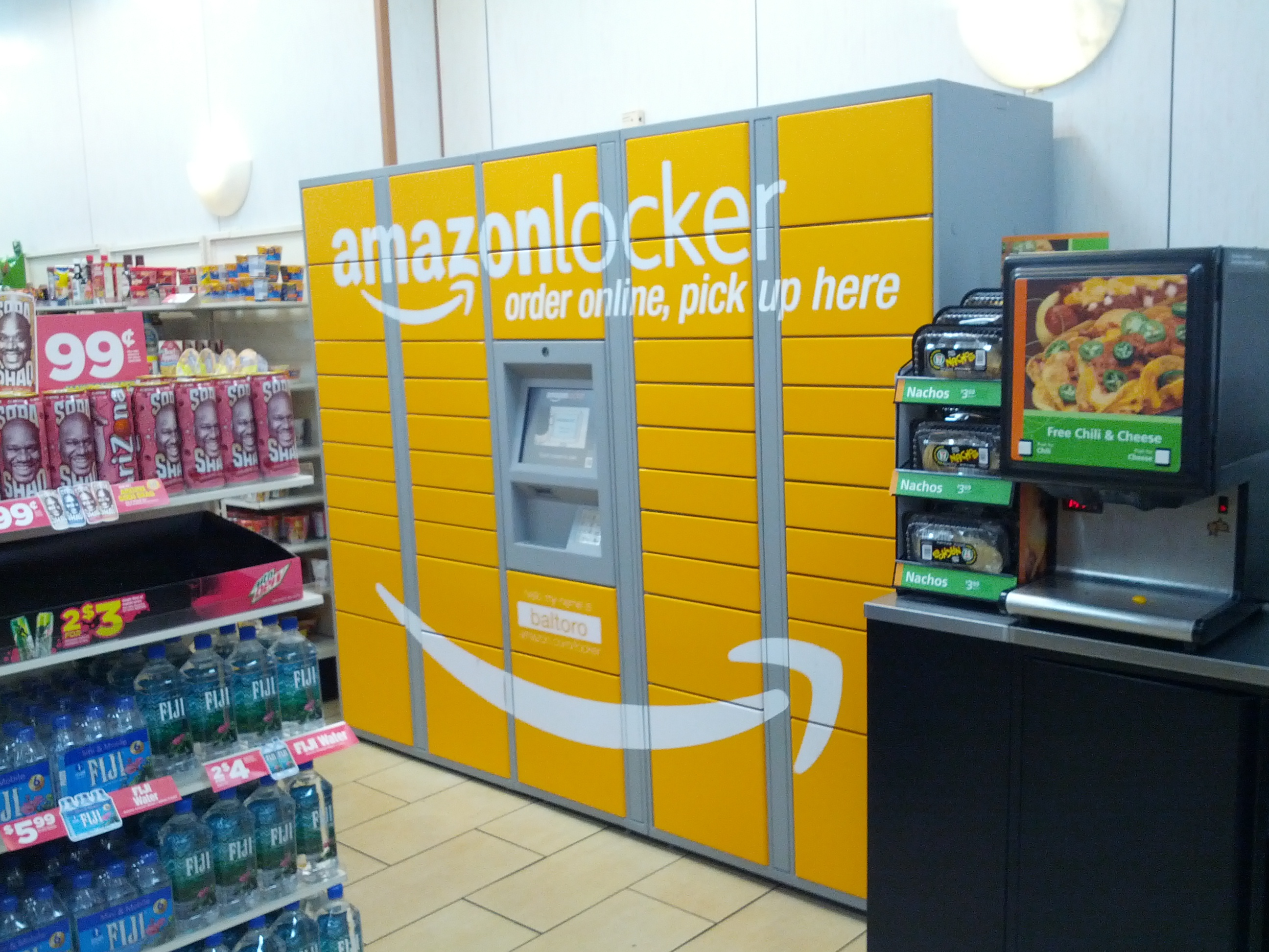 file amazon locker at baltoro 345 west 42nd st manhattan wikimedia commons. Black Bedroom Furniture Sets. Home Design Ideas