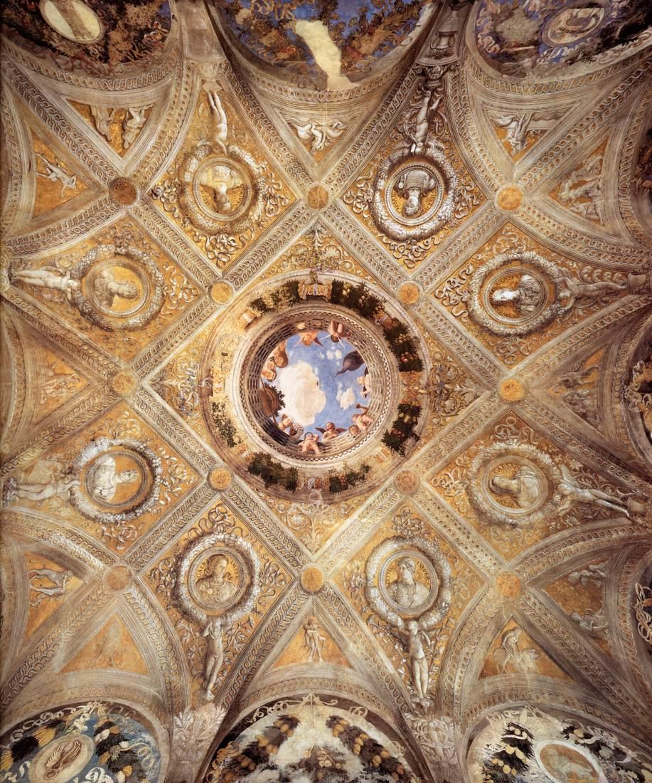 File andrea mantegna ceiling decoration for Camera degli sposi immagini