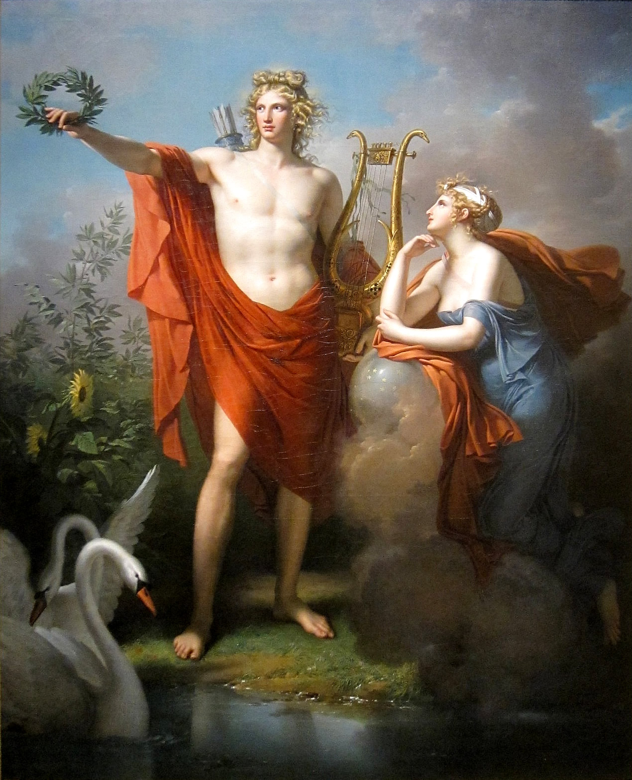 Assinatura Apollo%2C_God_of_Light%2C_Eloquence%2C_Poetry_and_the_Fine_Arts_with_Urania%2C_Muse_of_Astronomy_-_Charles_Meynier