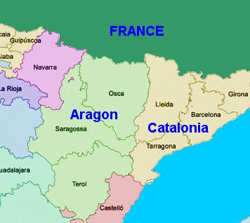 Catalonia Spain Map
