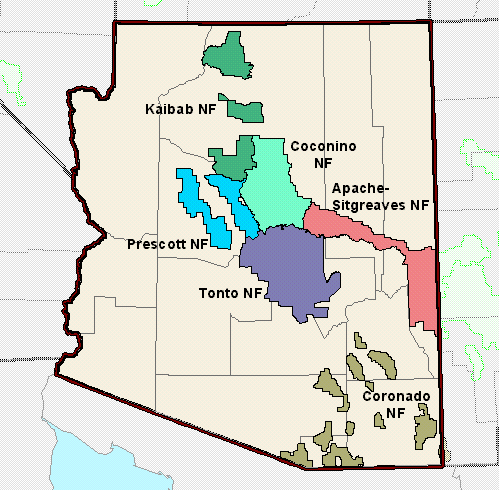 File:Arizona National Forest Map.png - Wikimedia Commons