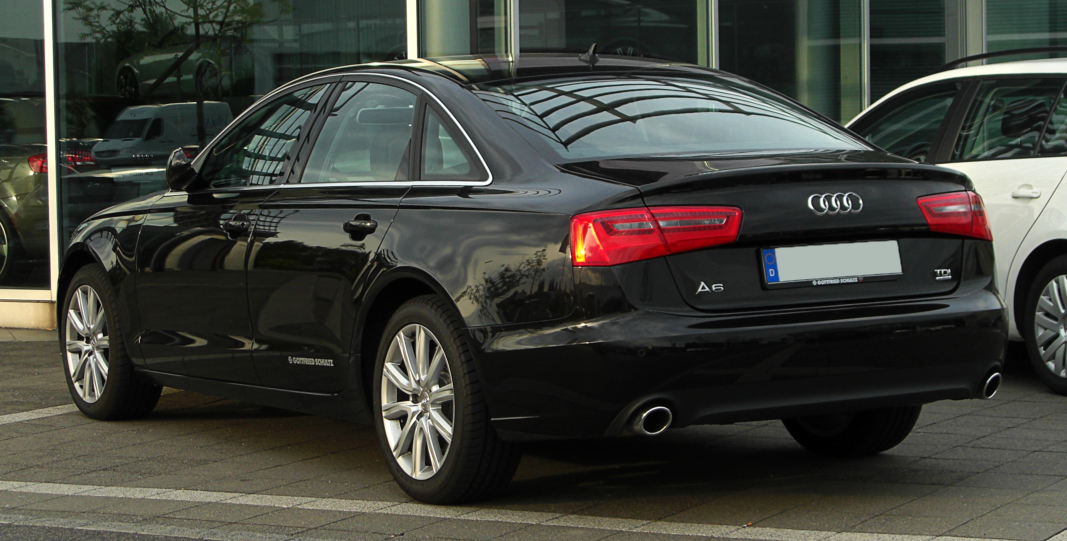 file audi a6 3 0 tdi quattro c7 heckansicht 13 mai 2011 wikimedia commons. Black Bedroom Furniture Sets. Home Design Ideas