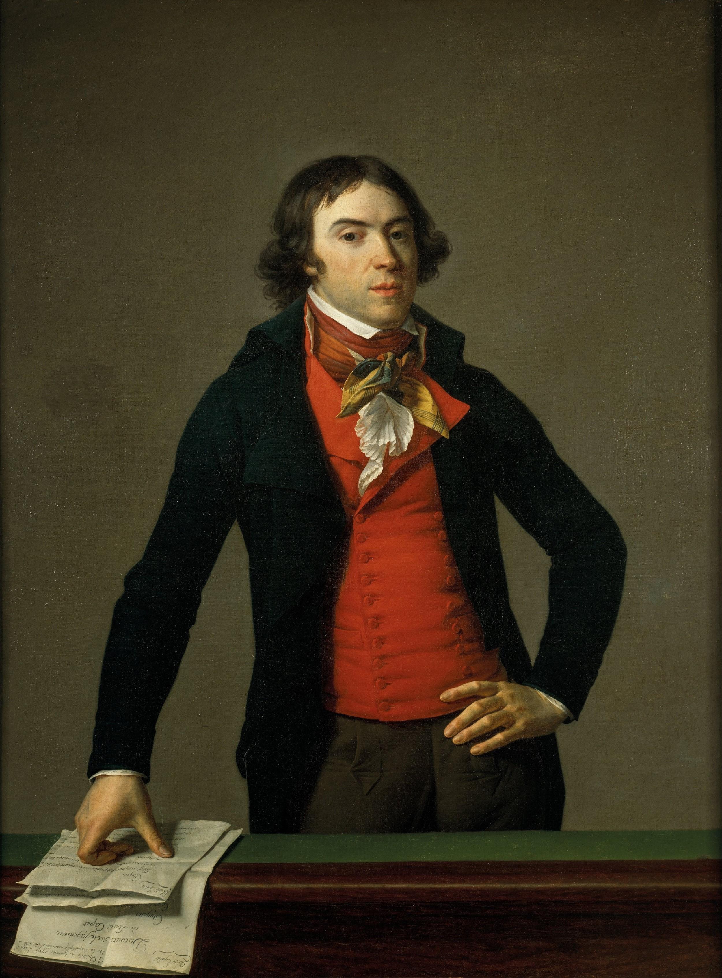 ''Portrait of Barère'' by [[Jean-Louis Laneuville]] (1794)