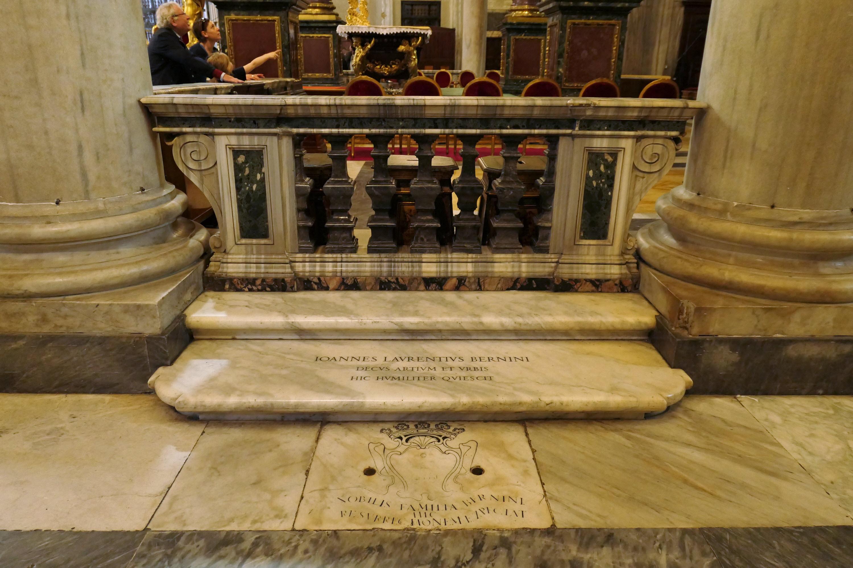 gian lorenzo bernini  tomb of gian lorenzo bernini in basilica di santa maria maggiore
