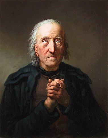 Betender alter Mann (Schuster Johann Gottlob Reinhardt),
