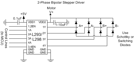 Applied robotics mechanisms and actuation dc stepper motor for Bipolar stepper motor driver circuit