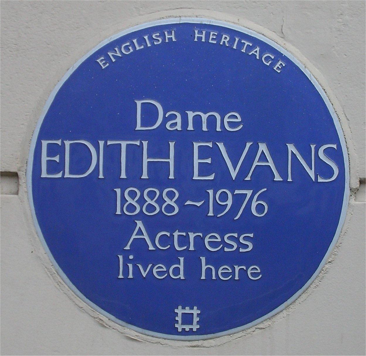 Description de l'image  Blue plaque Edith Evans.jpg.
