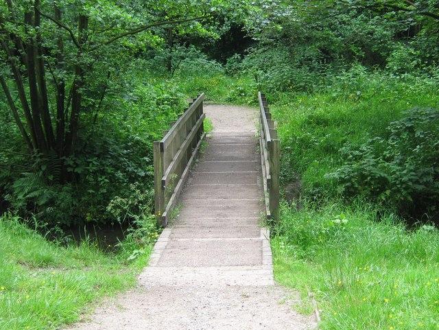Bridge over Shaw Brook, Worden Park - geograph.org.uk - 1384927