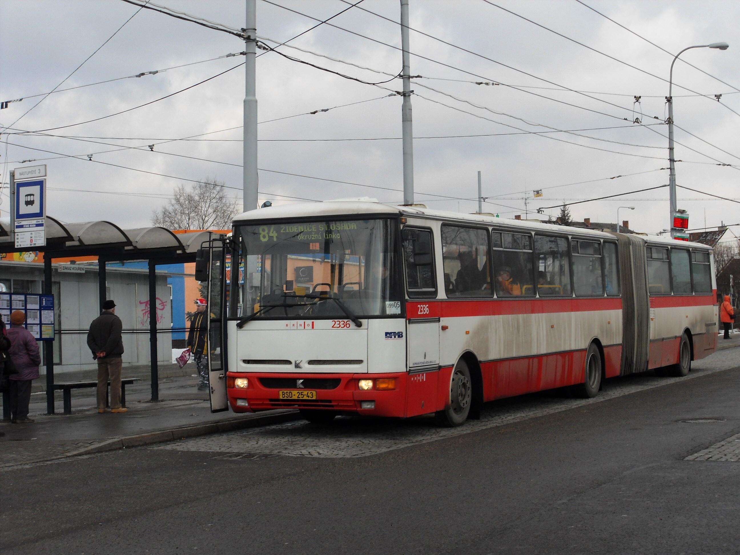 File:Brno, Židenice, smyčka Stará osada, Karosa B 941 č. 2336