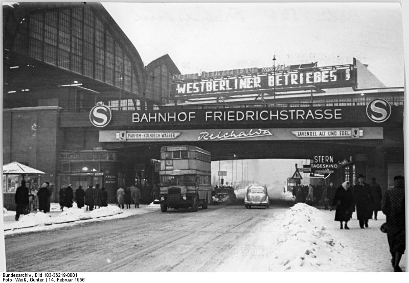 Bildresultat för berlin friedrichstraße 1956