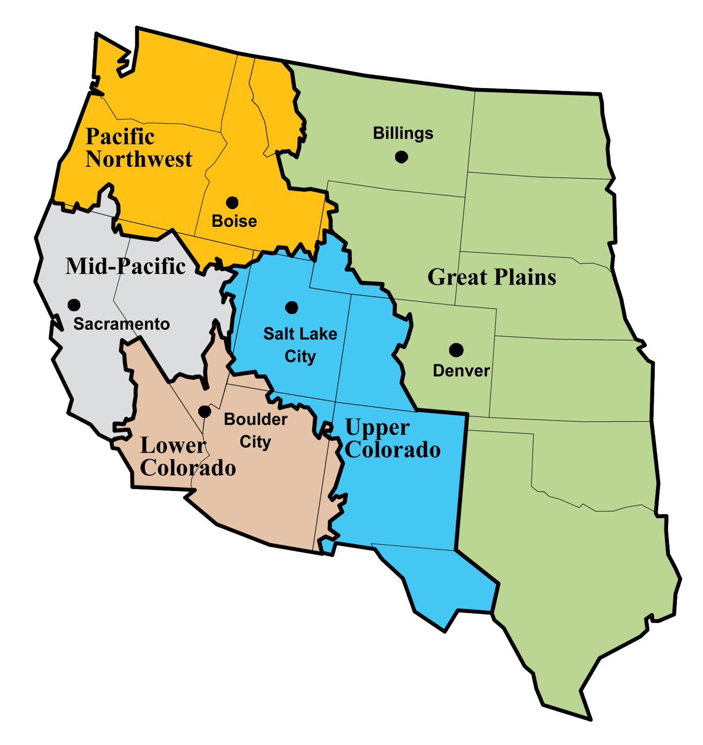 Fájl:Bureau of Reclamation regions.png