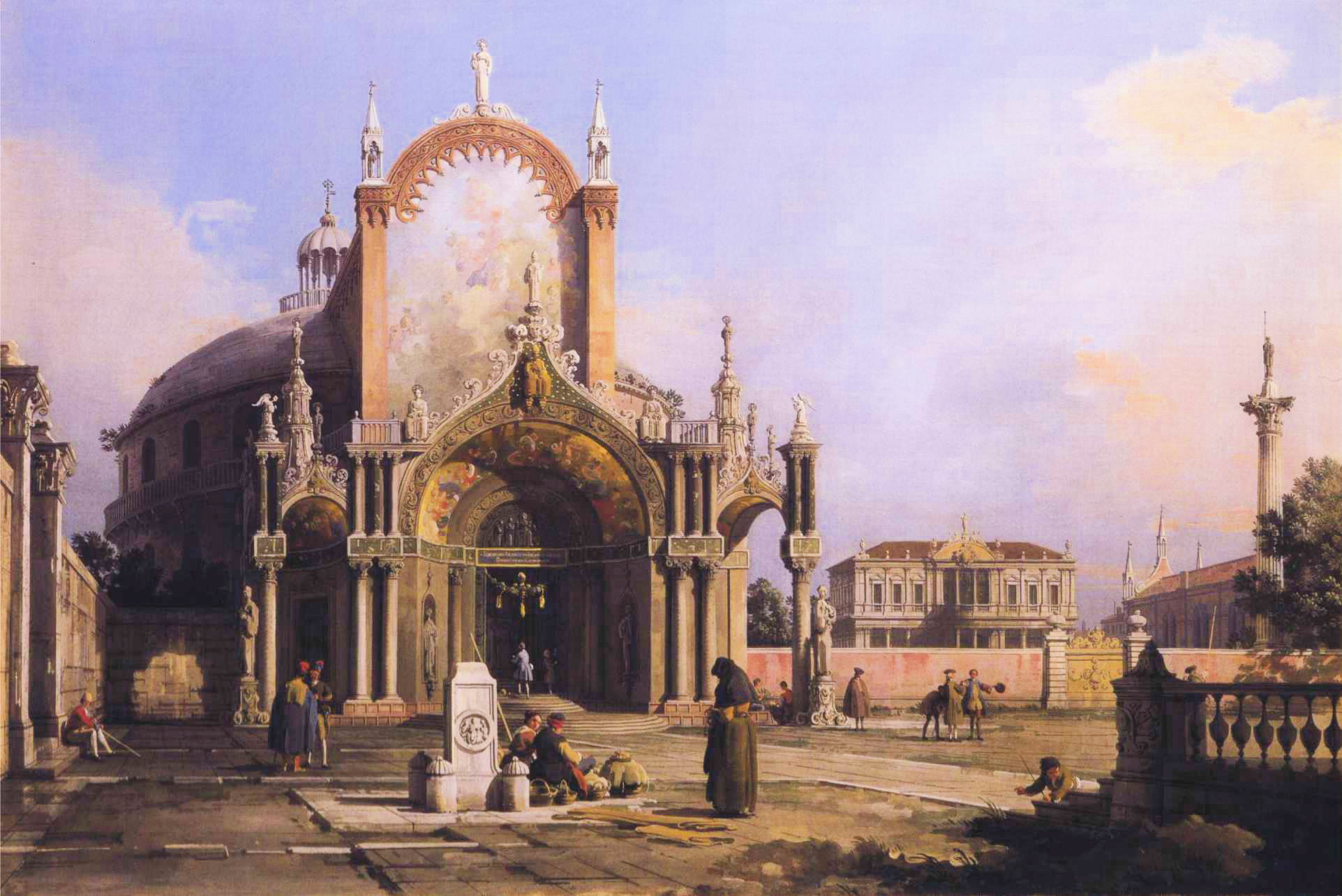 http://upload.wikimedia.org/wikipedia/commons/7/75/Canaletto_-_Capriccio_of_a_Round_Church_with_an_Elaborate_Gothic_Portico_in_a_Piazza%2C_a_Palladian_Piazza_and_a_Gothic_Church_Beyond.JPG