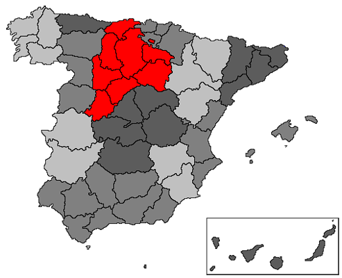 Depiction of Castilla la Vieja